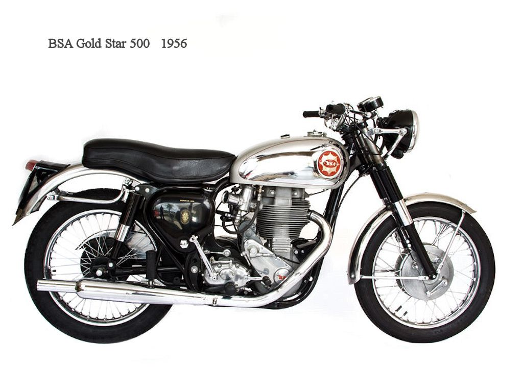 Bsa Gold Star 500 1956 Classic Motorcycles Retro Motorcycle Cafe Racer Motorcycle