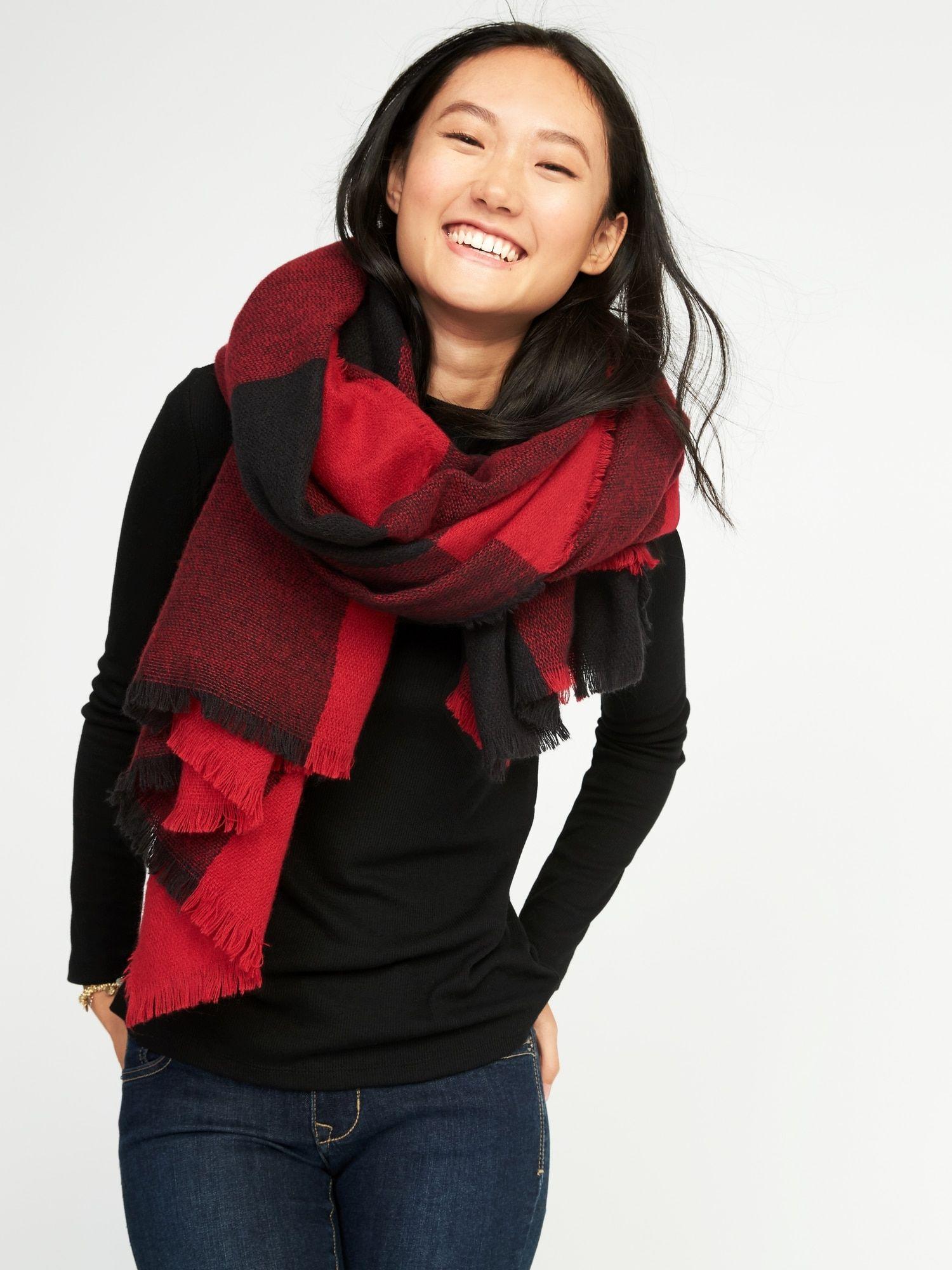 Flannel Blanket Scarf Old Navy Check Scarf Outfit Dress With