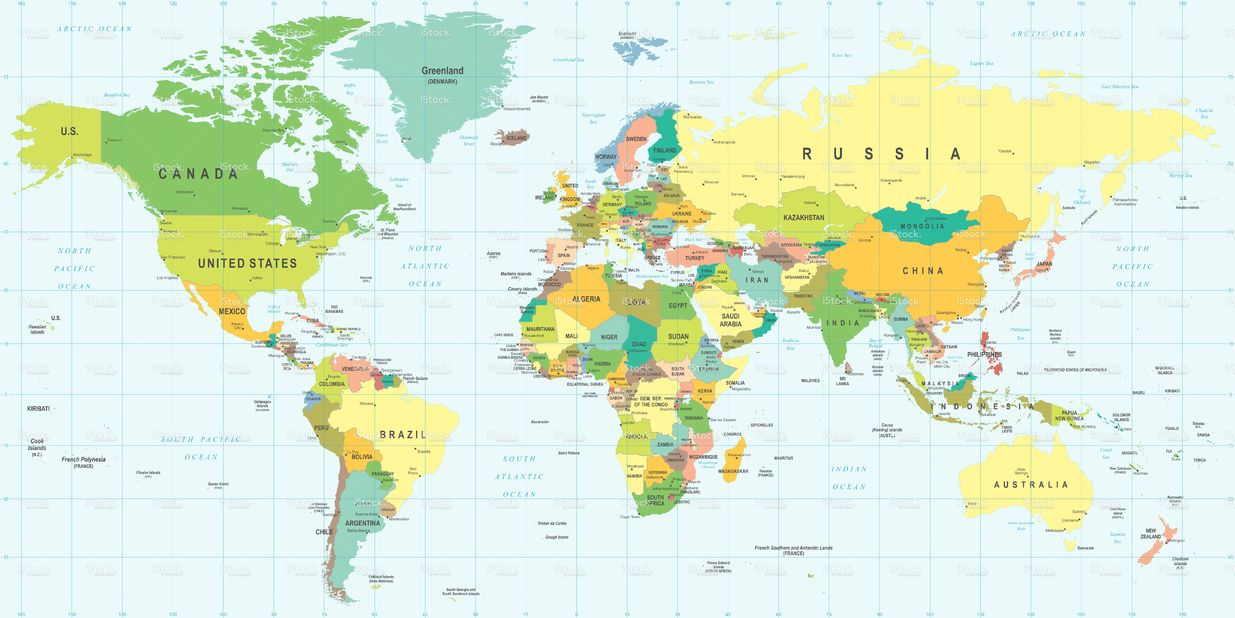World map highly detailed vector illustration mapas mundial de httpistockphotoesvectormapa gumiabroncs Images