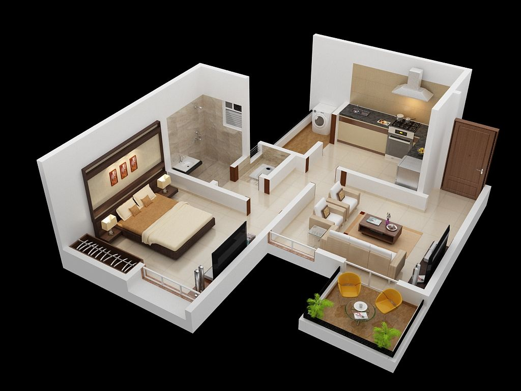 Explore One Bedroom Apartment Apartment Plans and