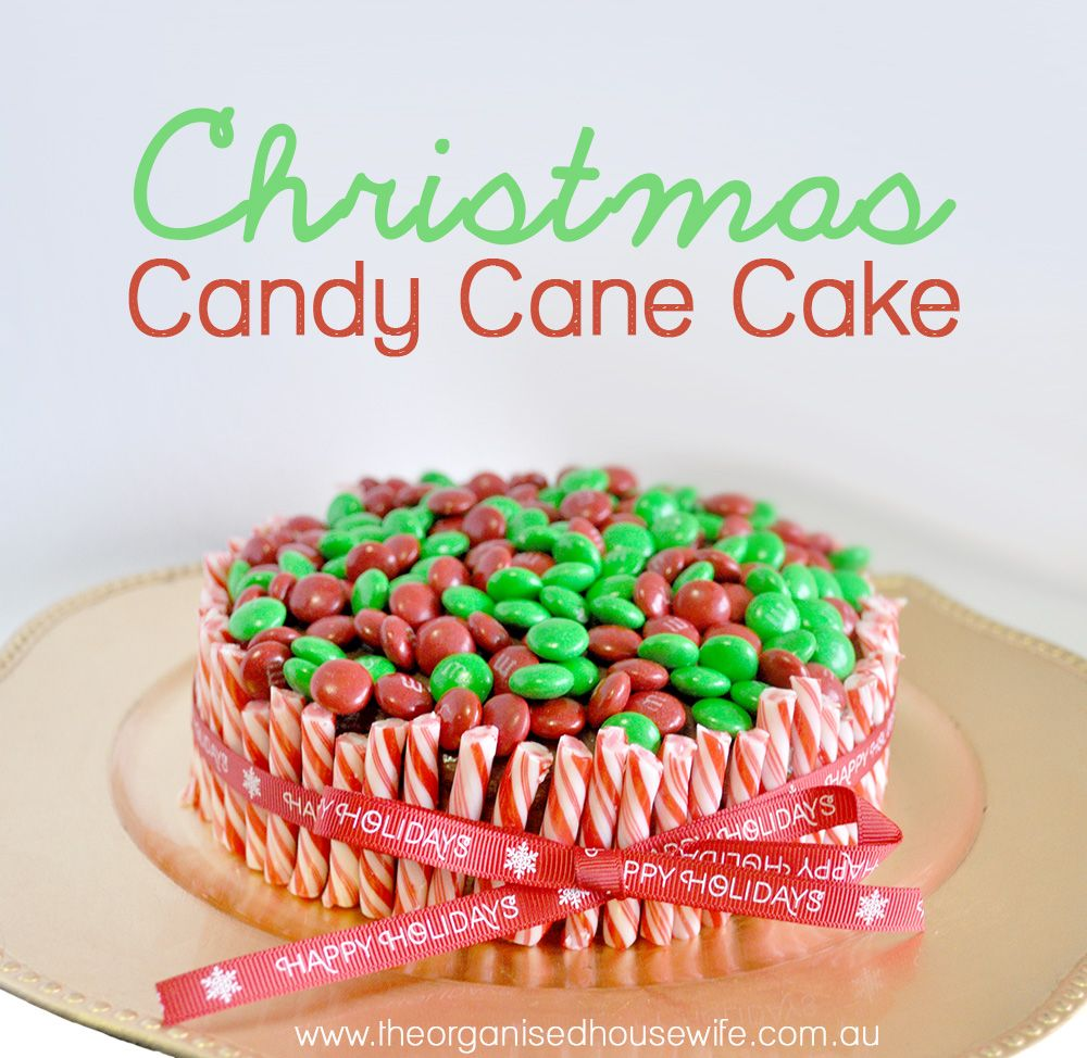 the organised housewife easy christmas candy cane cake - Easy Christmas Cakes
