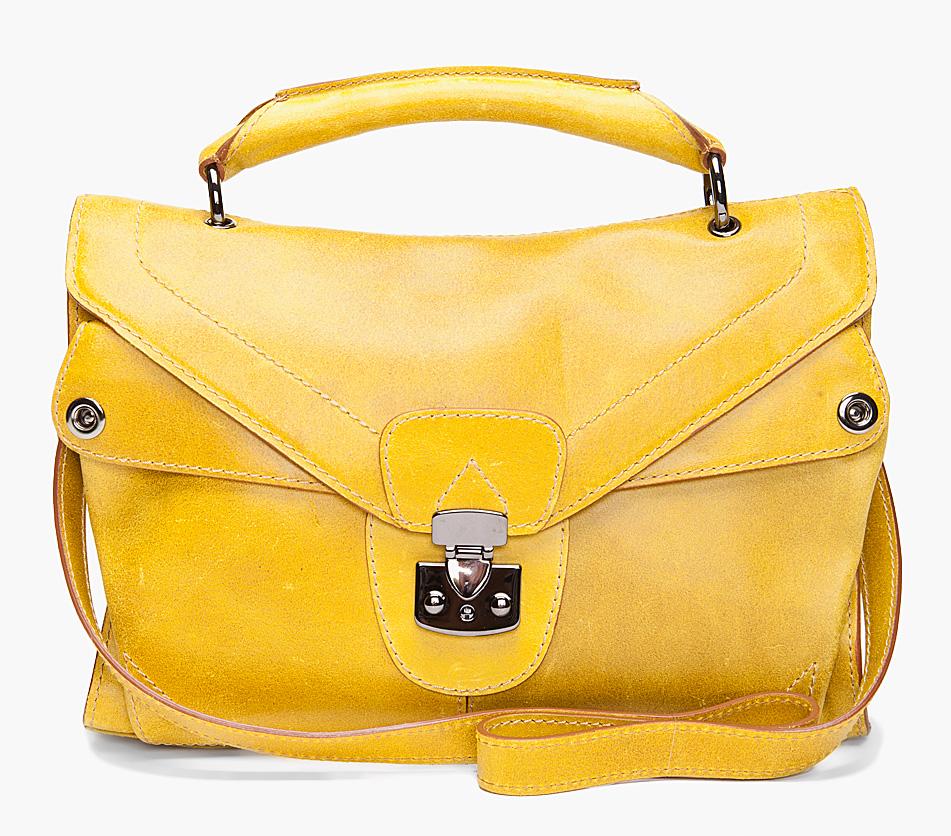 Carven. #yellow #carven #satchel $795