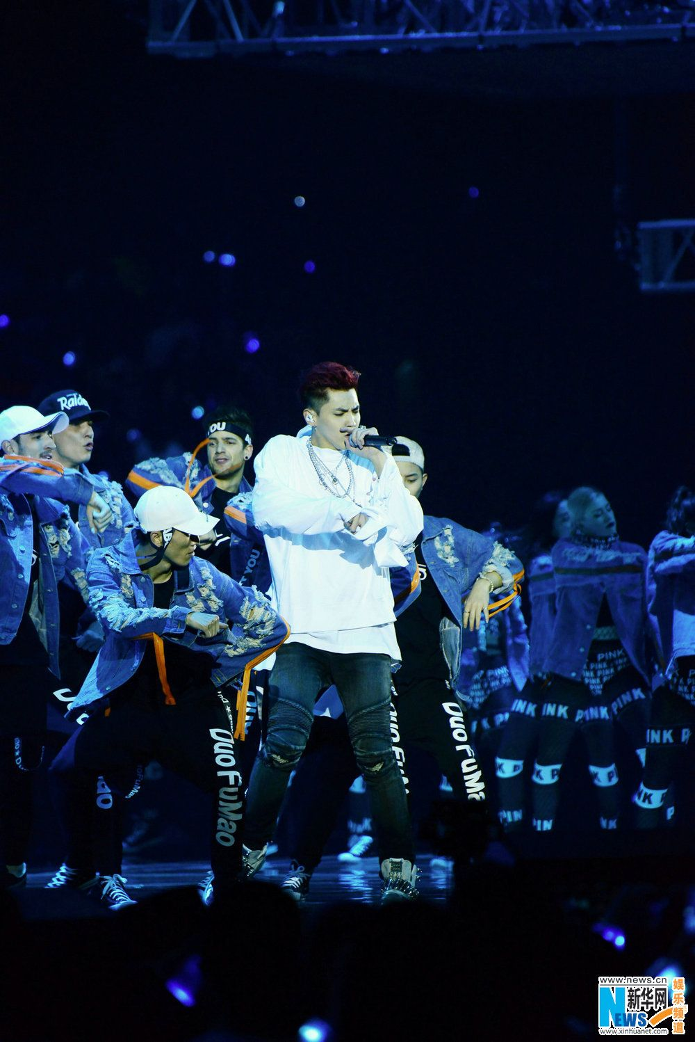 Singer Wu Yifan performing on New Year's Eve http//www