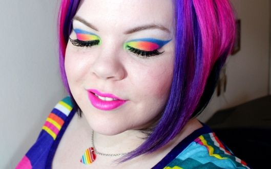 Neon Rainbow MAQUILLAJES FANTASTICOS Pinterest Maquillaje