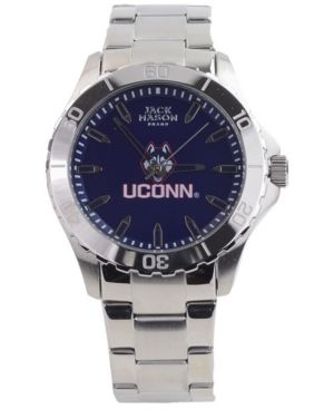 Jack Mason Men's Connecticut Huskies Color Sport Bracelet Watch - Silver