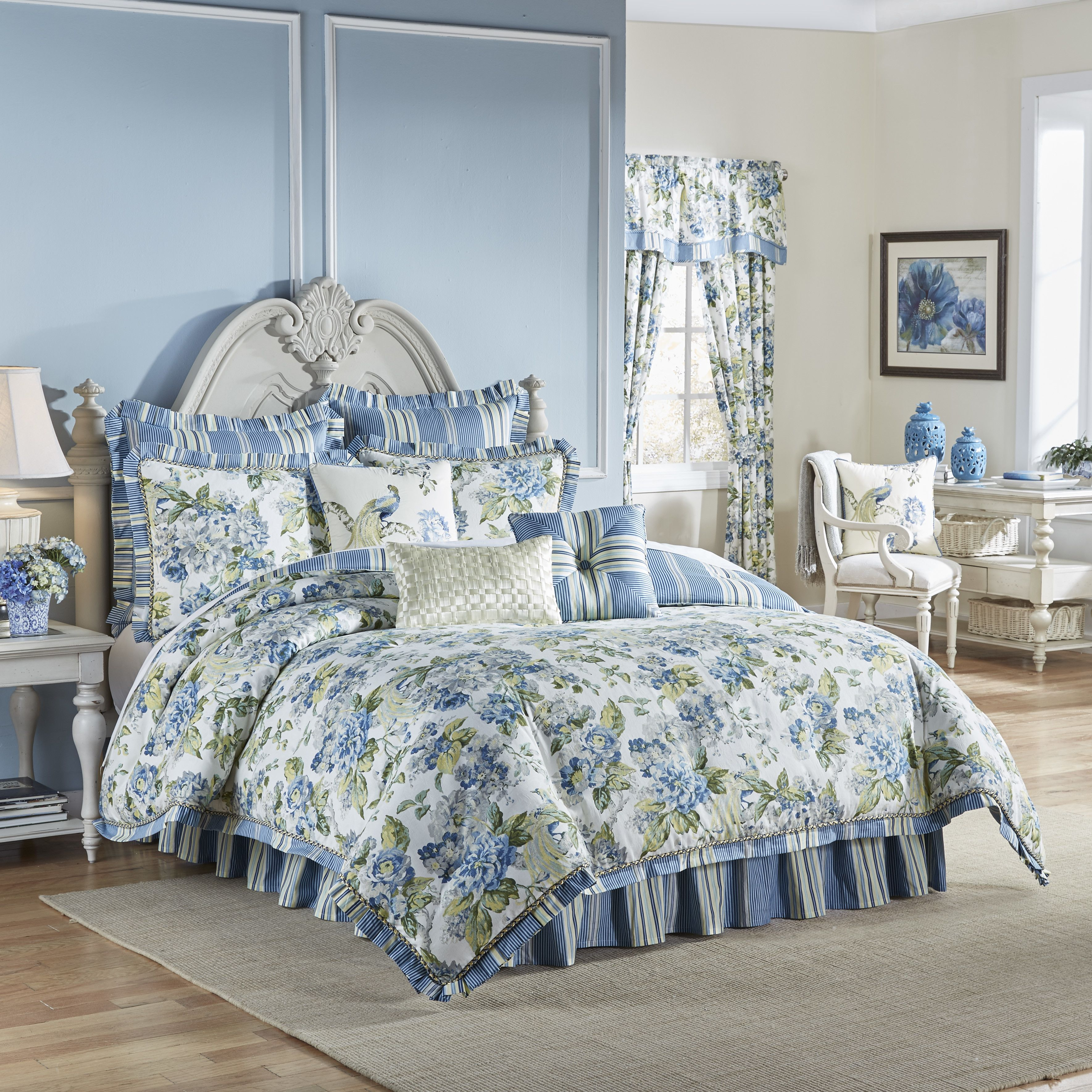 waverly floral engagement 4 piece bedding set & reviews | wayfair