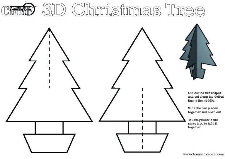 3d christmas tree template 2018 business template regarding