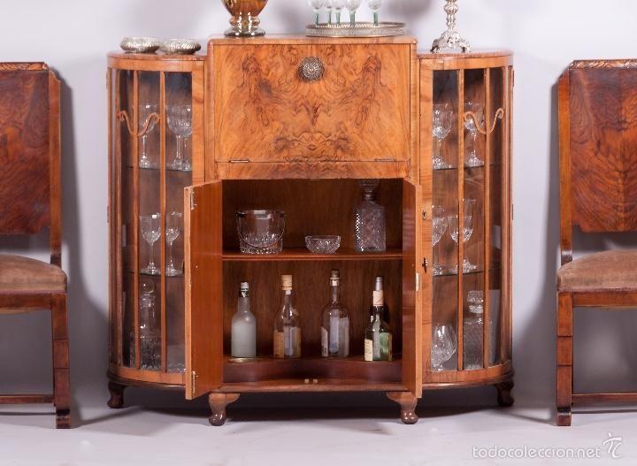 Vintage: Antiguo Mueble bar inglés de Nogal - Foto 2 - 57176679 ...