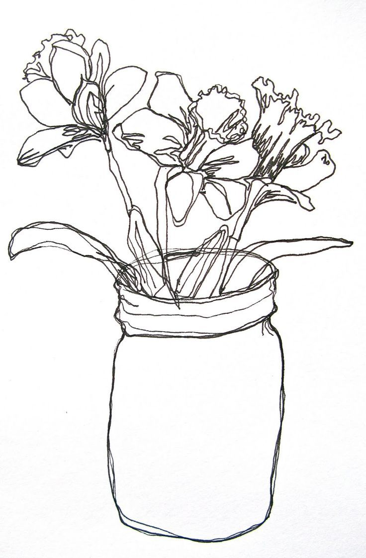 Contour Line Drawing Flowers : Image result for picasso line drawings flowers