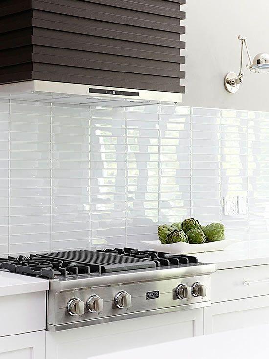 Color Spotlight Go Modern With White Wash Modern Kitchen Backsplash White Modern Kitchen Kitchen Backsplash Designs