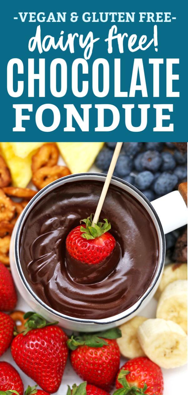 Dairy Free Chocolate Fondue Gluten Free Vegan Recipe Chocolate Fondue Recipe Dairy Free Fondue Fondue Recipes