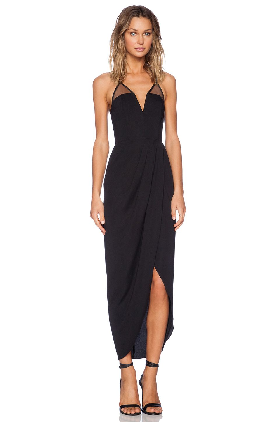 Shona joy brave u brazen bustier maxi dress in black revolve