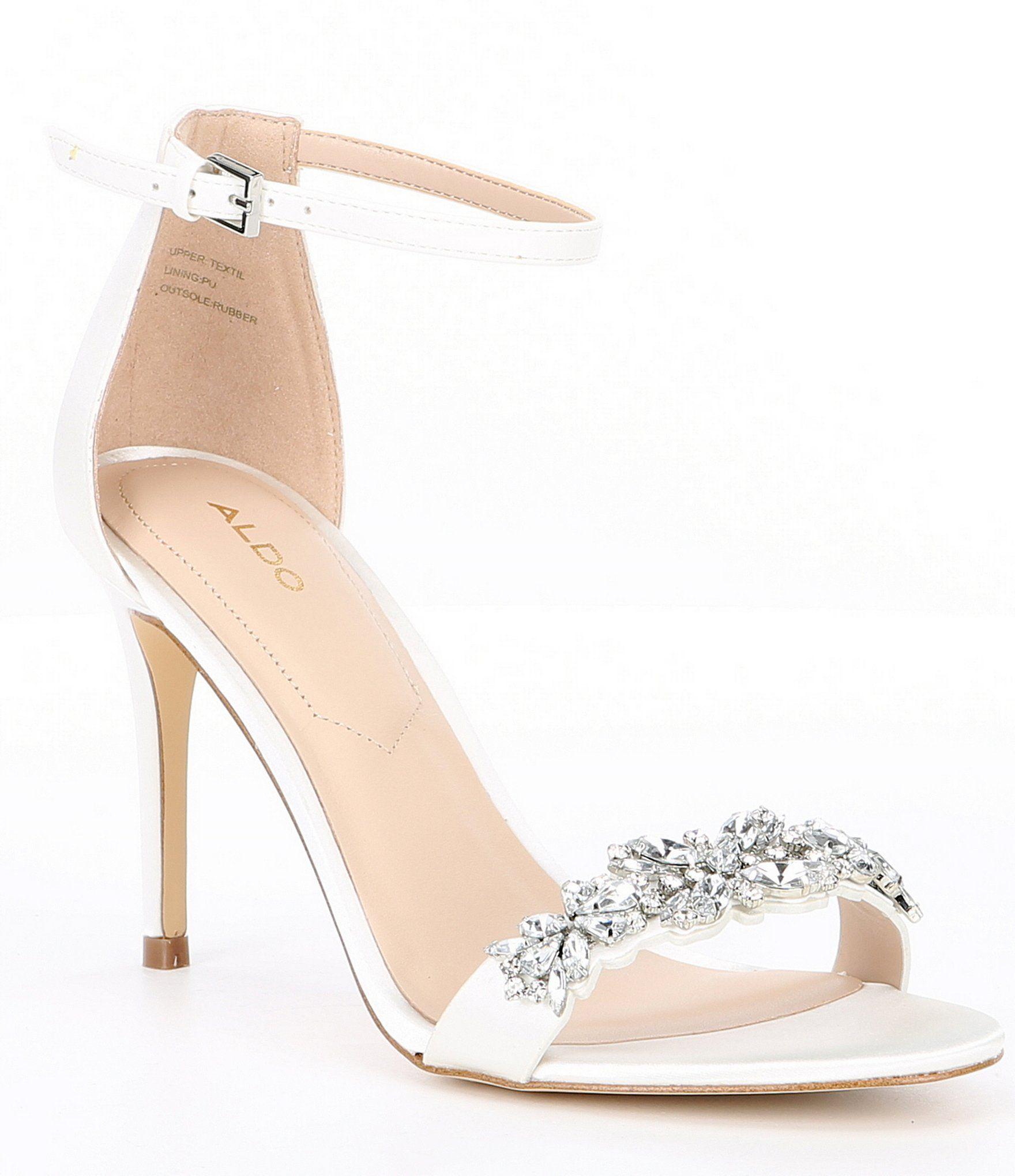 Shop For Aldo Lareladia Two Piece Embellished Sandals At Dillards