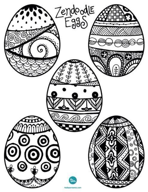 Zentangle Easter Eggs