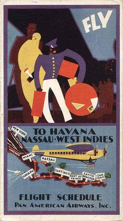 PAN AMERICAN Travel Art Photo Print Pinup Poster Pin Up Girl CUBA MIAMI AIRLINES