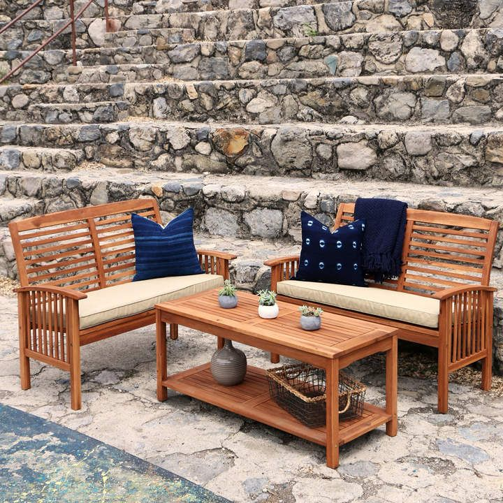 Pier Imports Brown Acacia Piece Patio Set Classy Sponsored - Pier 1 patio table
