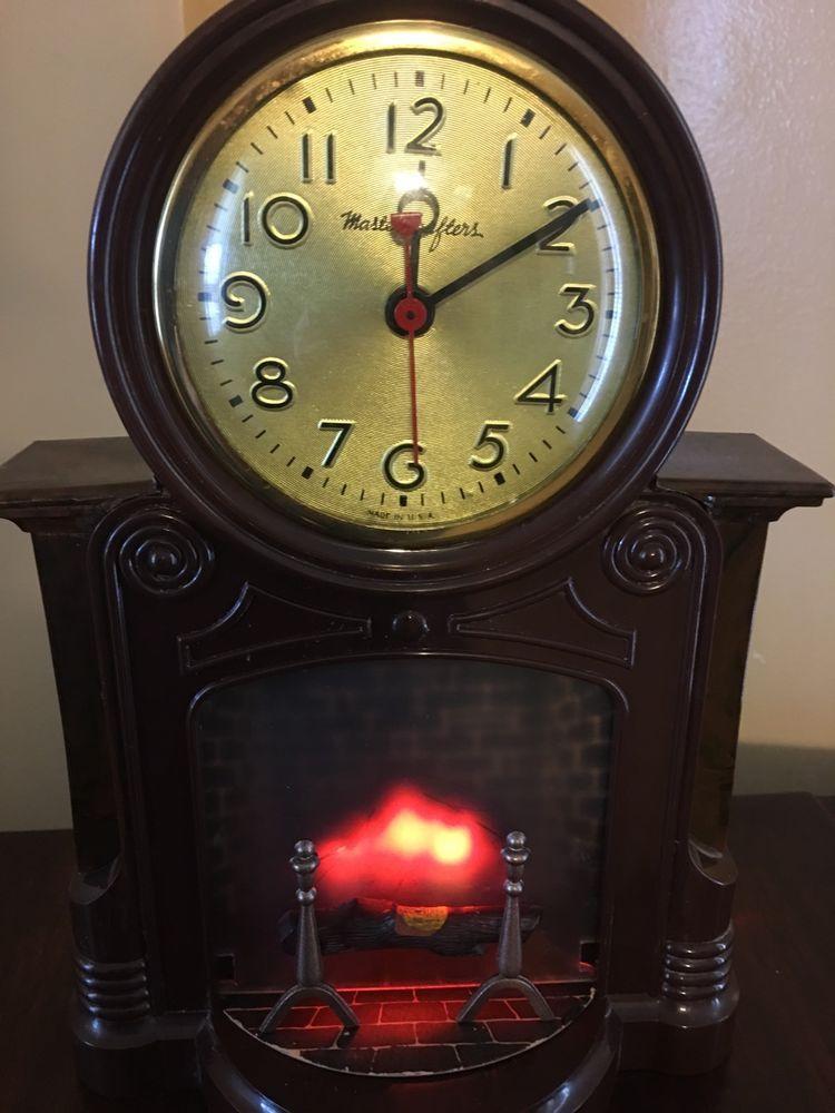 mastercrafters fireplace clock | Mastercrafters Vintage Clocks ...