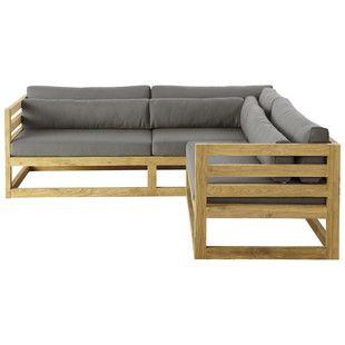 Outdoor Furniture Corner Sofa Design Wooden Sofa Corner Sofa Set