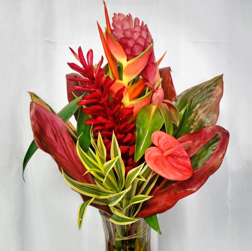 Pin by annika newell on wedding flowers pinterest weddings the poipu tropical bouquet sunshine radiates from warm flowers in this fun arrangement izmirmasajfo Gallery
