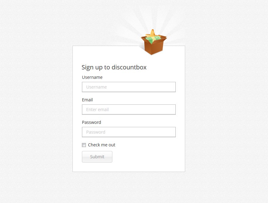 Sign up to discount form » Bootstrap Eden