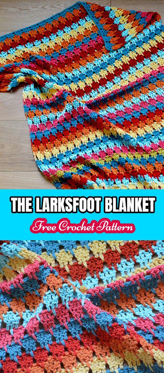 The Larksfoot Blanket Free Crochet Pattern   Crochet & Amigurumi ...