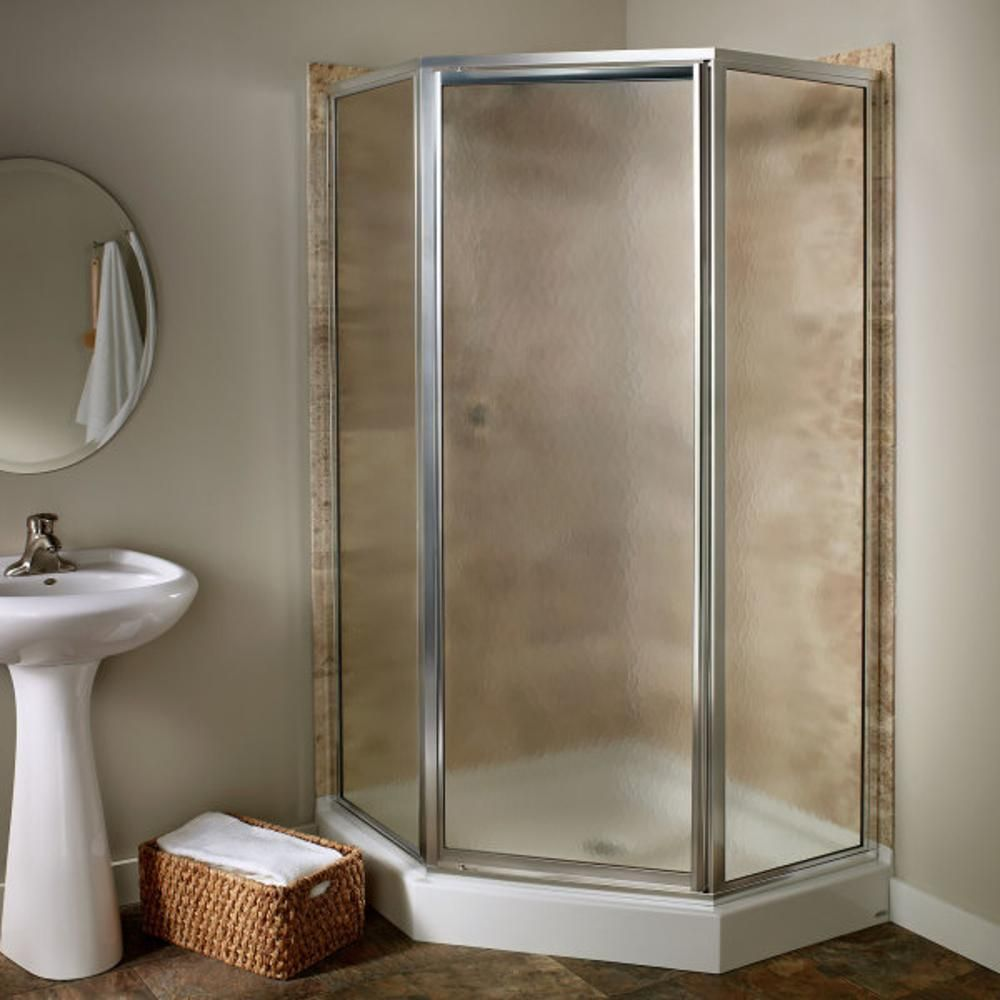American Standard Euro 60 In X 70 In Semi Frameless Sliding Shower Door In Oil Rubbed Bronze With Clear Glass Am00390 400 224 Frameless Sliding Shower Doors Shower Doors Neo Angle Shower