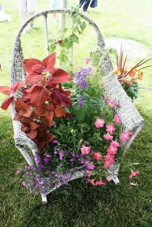 old chair garden by bettye