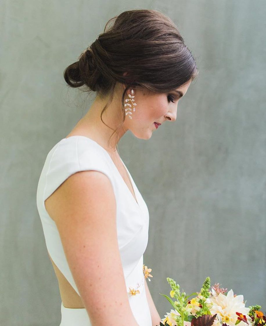 philadelphia bride / wedding hair and makeup / updo / low