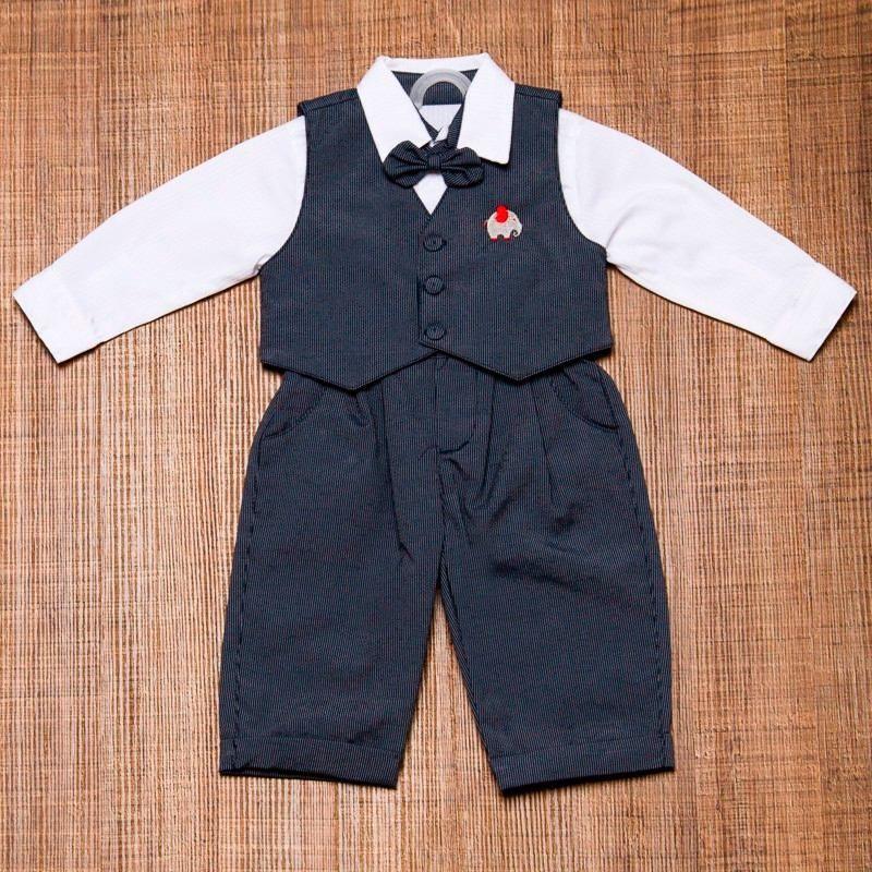 534a9dc2d9 Conjunto Infantil Masculino Para Batizado Colete E Gravata - R  168 ...