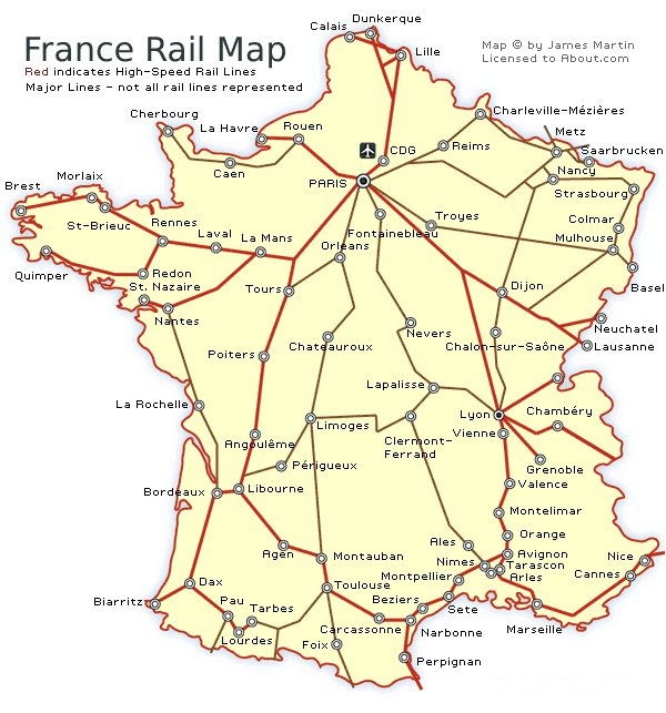 See A France Railways Map And Get French Train Travel Information