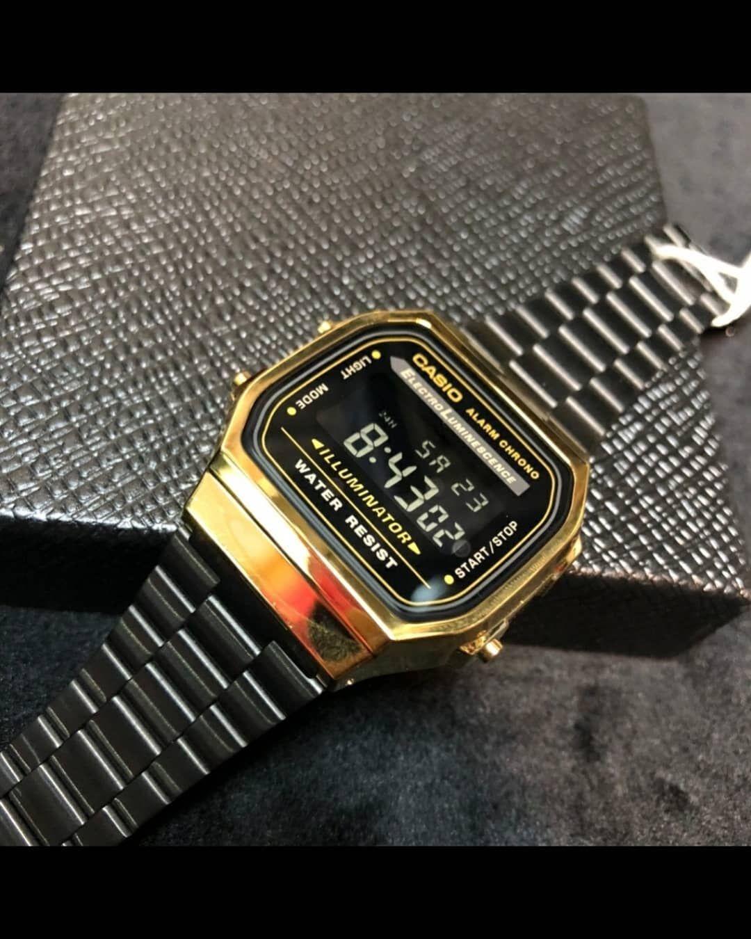 1 Curtidas Comentários Puro Estilo Puro Estilo Br No Instagram Relógio Casio Retro Vintage Dourado Com Preto Puro Casio Watch Casio Accessories