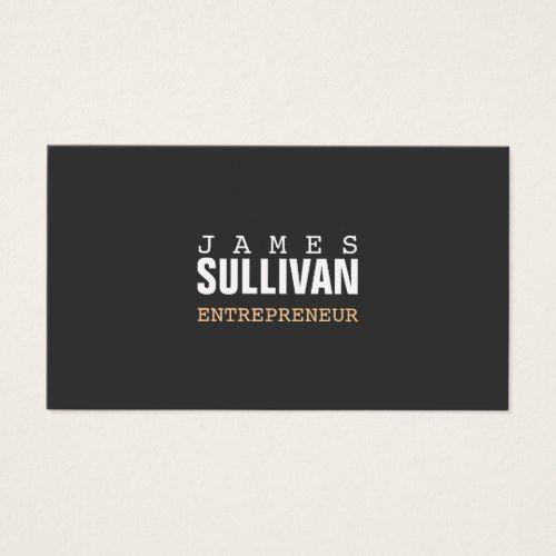 Simple black modern entrepreneur hip minimalist business card simple black modern entrepreneur hip minimalist business card colourmoves