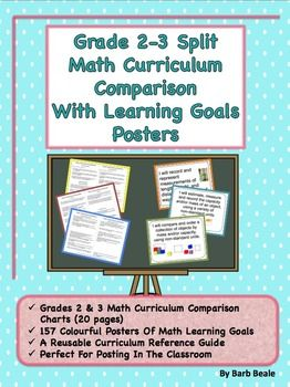Gr 2/3 Split Math Curriculum Comparison and Learning Goals