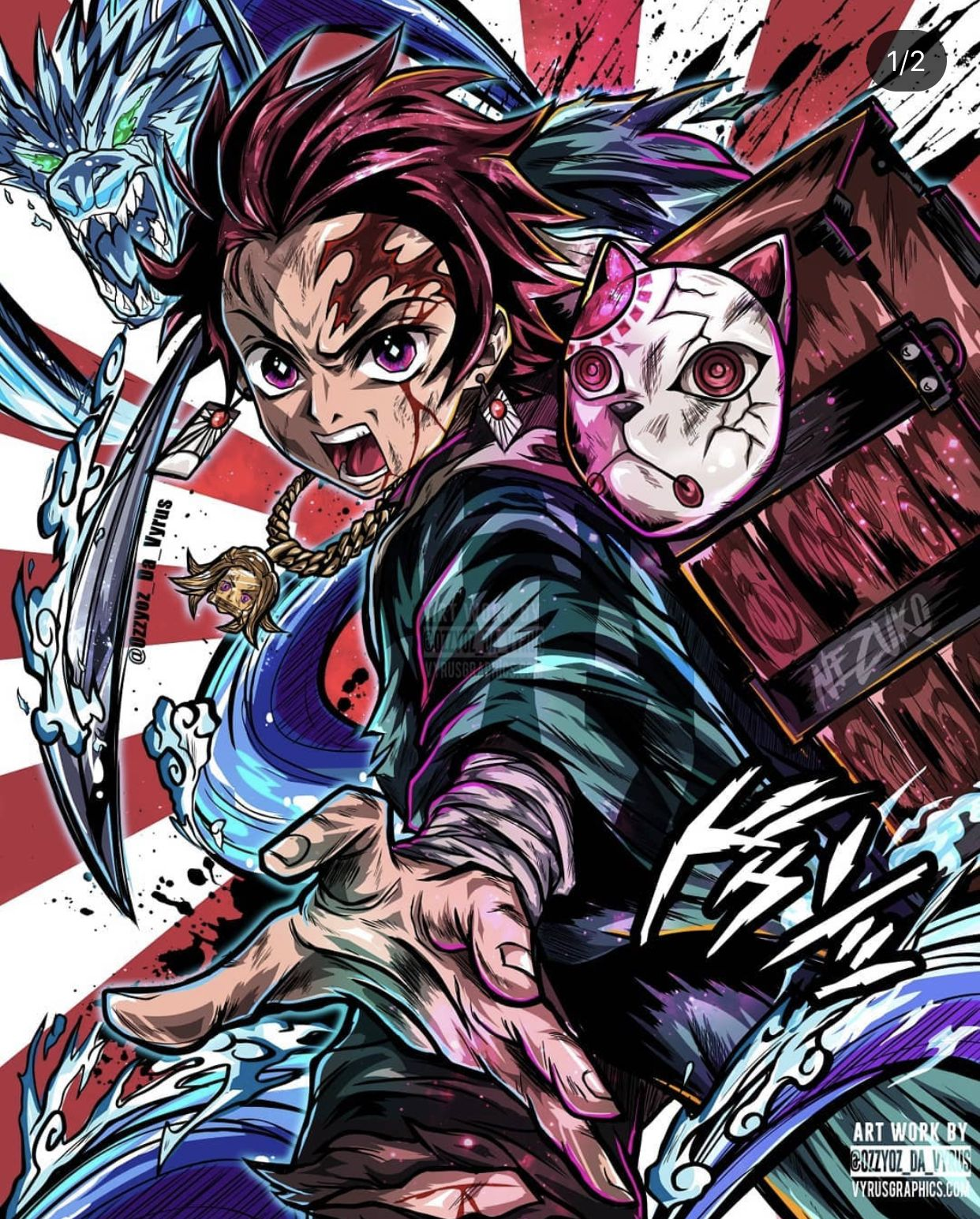 Cool Tanjiro Art Not Mine Em 2020 Personagens De Anime Imagem De Anime Anime