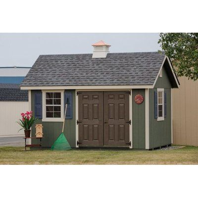 Handy Home Berkley 10 Ft 10 In W X 14 Ft 2 In D Wood Storage Shed Wayfair Wood Storage Sheds Backyard Shed Wooden Storage Sheds