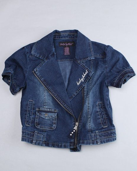 4678d206d Baby Phat Girls Denim Moto Jacket | Plus size outfits | Denim, Baby ...