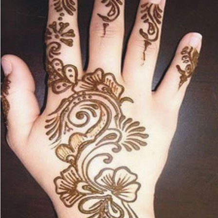 Kids Full Hand Mehndi Design