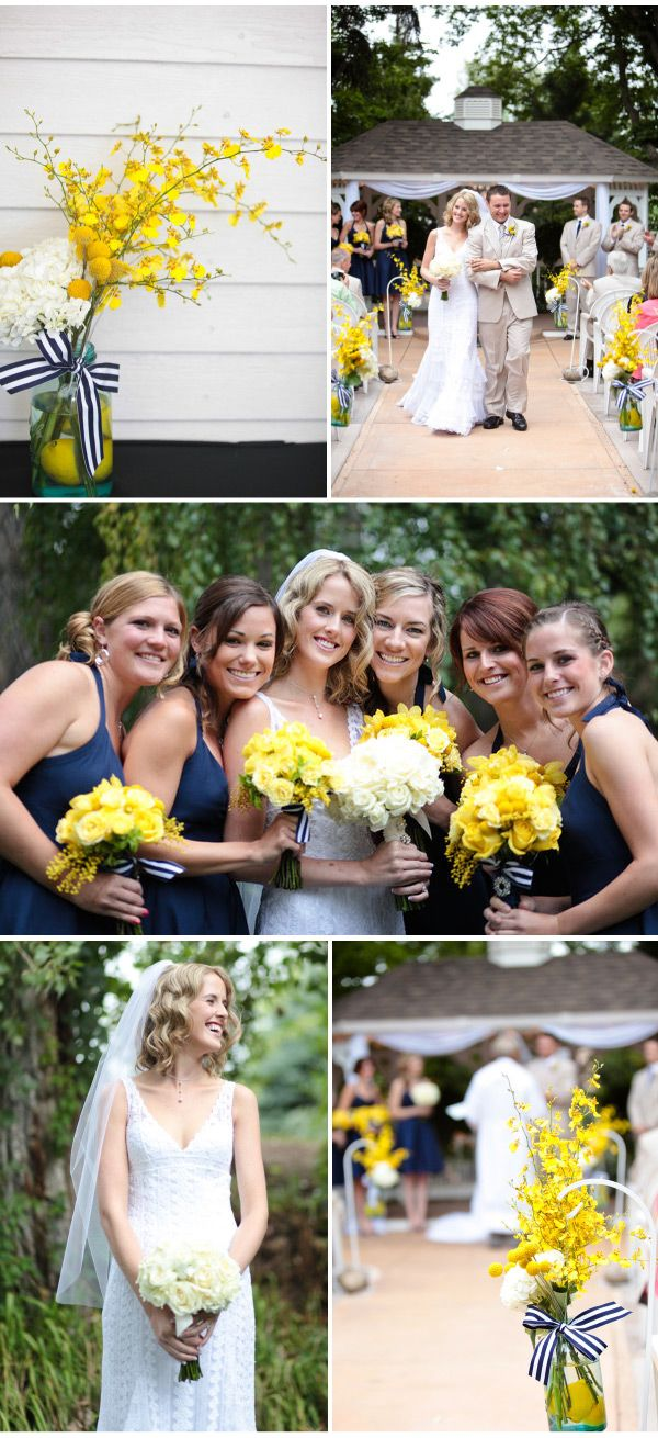 navy/yellow wedding