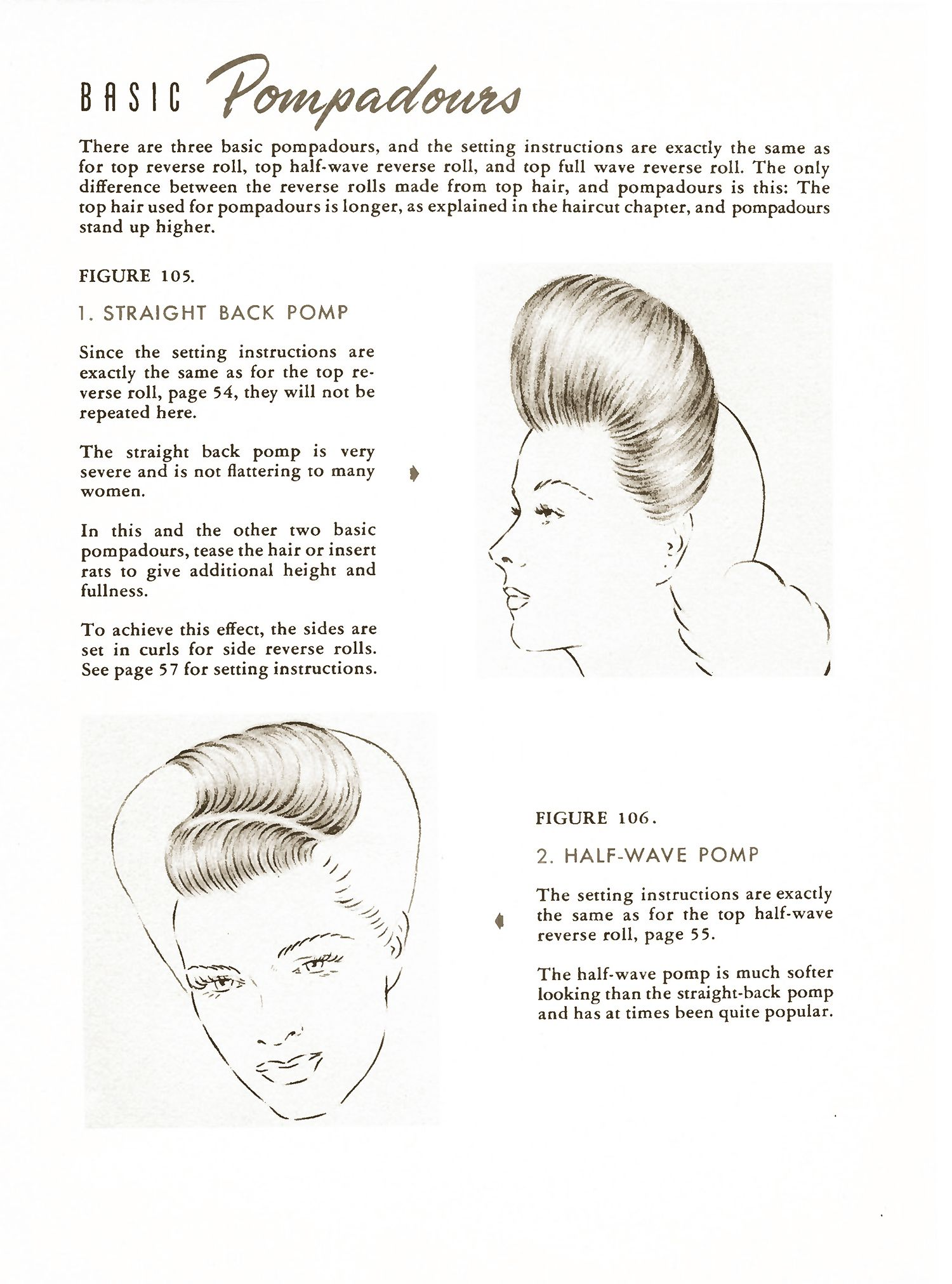 1940s pompadour hairstyle howto guide from 1944 | a new look