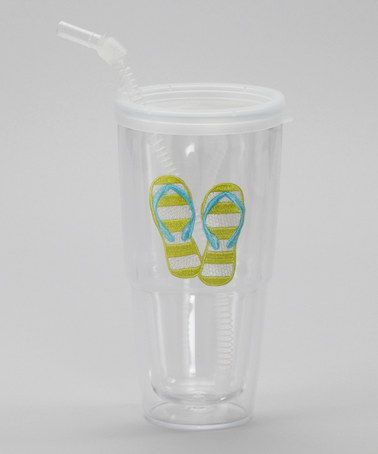 Take a look at this Green Flip-Flop Insulated Tumbler & Straw by Dennis East International on #zulily today!