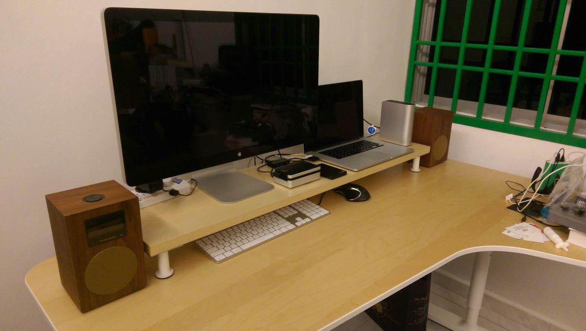 10cm Lift Desk Shelf Monitor Stand Ikeahackers