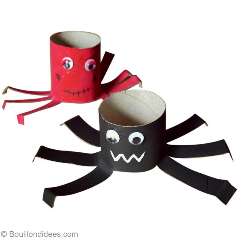 Diy halloween araign e en carton r cup id es conseils et tuto activit manuelle enfant - Travaux manuels avec du carton ...