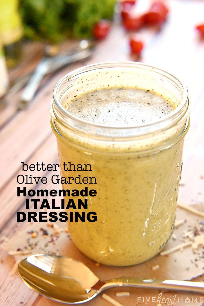 Besser als Olive Garden HAUSGEMACHTES ITALIENISCHES DRESSING   – Salads and Dressings