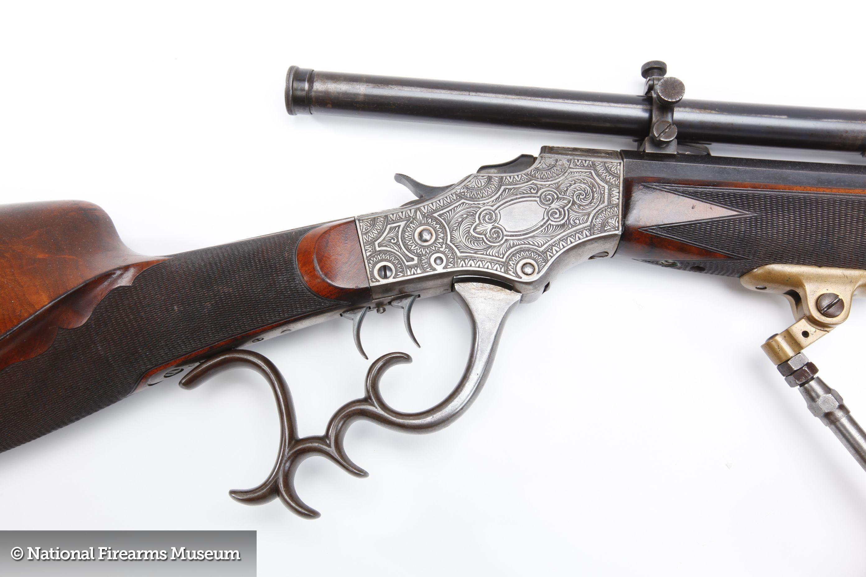 Stevens Pope Model 44 Schuetzen Rifle | armory stuffs