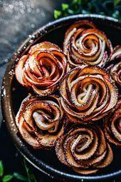 idée de dessert rapide et facile en pâte feuilletée, pommes roses en pâte ...    #dessert #facile #feuilletée #idée #Pâte #Pommes #rapide #roses #patefeuilleteerapide