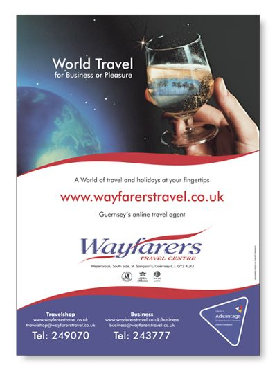 Wayfarers Travel Centre ad | Advertisement Design (Week 12 ...