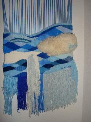 tapiz pared - cascada tapiz lana,algodon,seda alto lizo Weaving in - cascada de pared