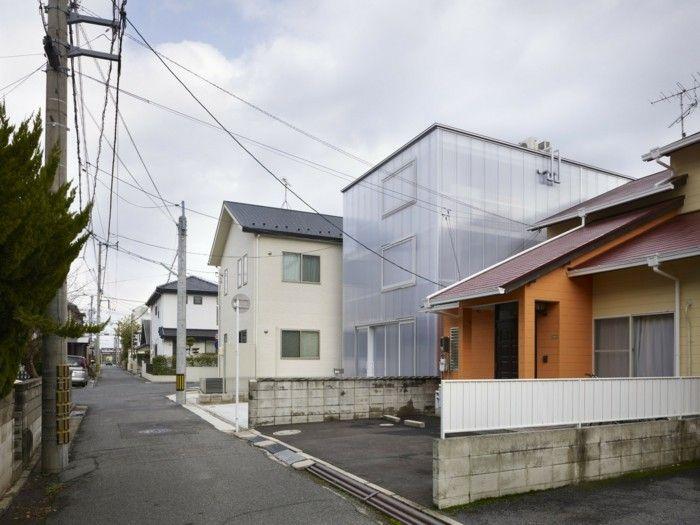 polycarbonat platten design hausbau ideen haus tousuienn hiroshima - Haus Japan