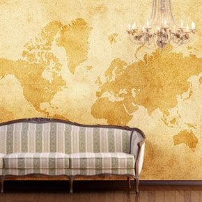 Vintage world map wallpaper for the bedroom put a nail everywhere vintage world map wallpaper for the bedroom put a nail everywhere we have been and gumiabroncs Choice Image