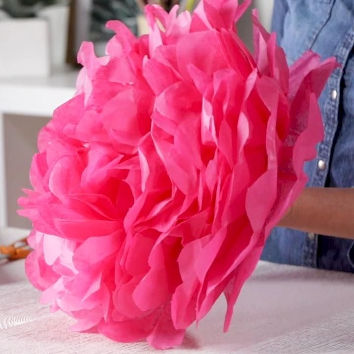 Fluffy, colorful tissue paper flowers are a party decor staple. Did you know you can make your own with a pack